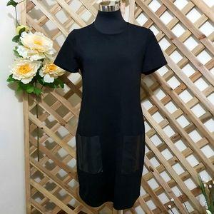 DECJUBA | Shift Dress | Patch Pockets | Black | AU 12 | New Without Tag |